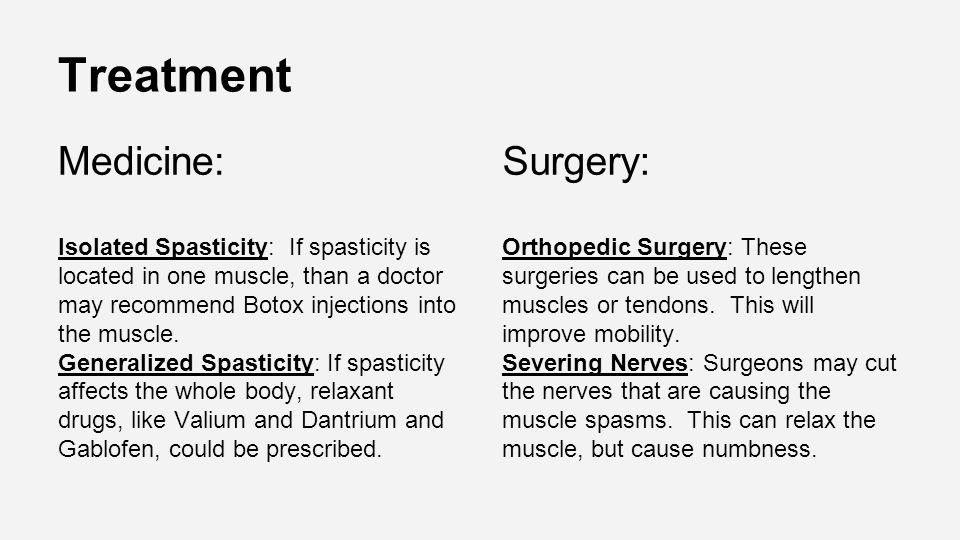 Treatment Medicine: Surgery: