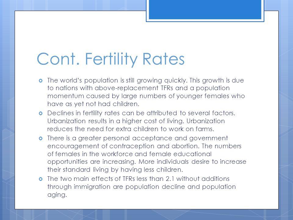 Cont. Fertility Rates