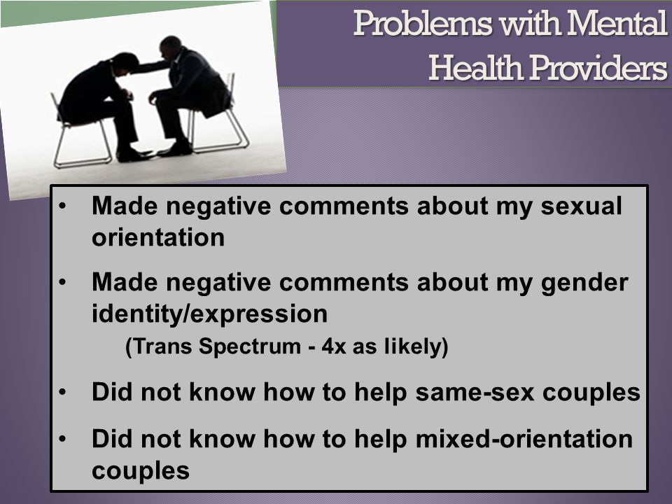 Problems with Mental Health Providers