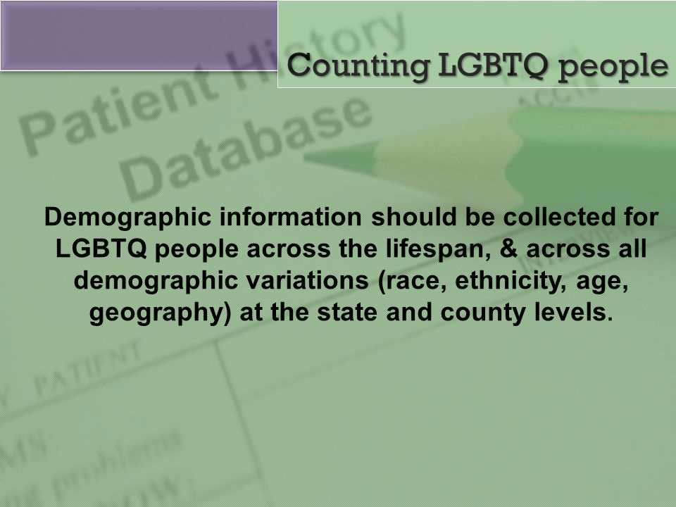 Counting LGBTQ people
