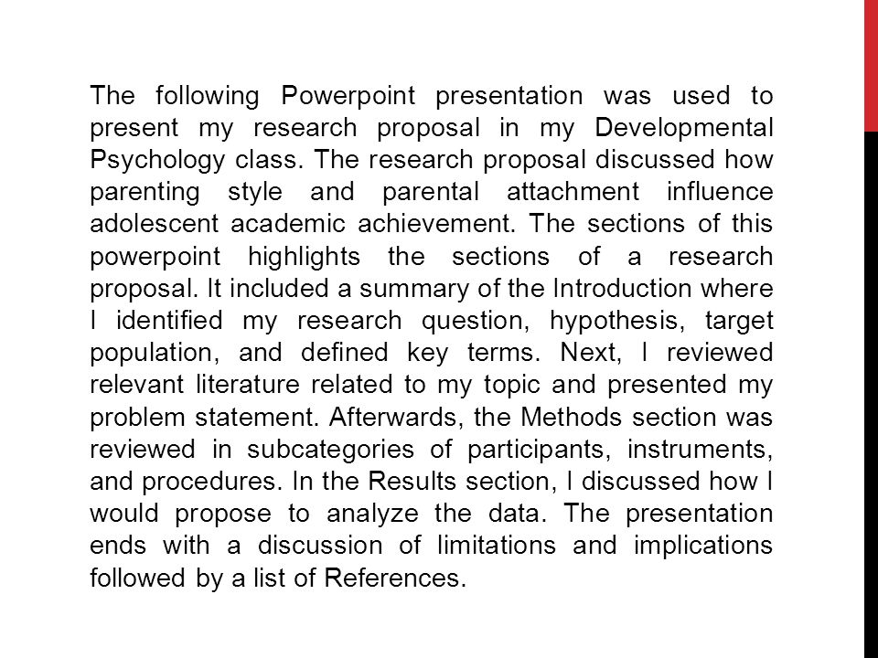 how to write a psychology research proposal