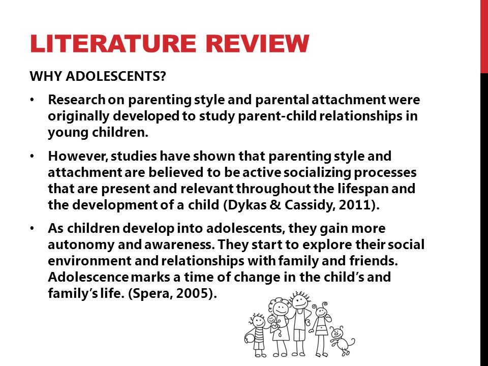 Literature review child development