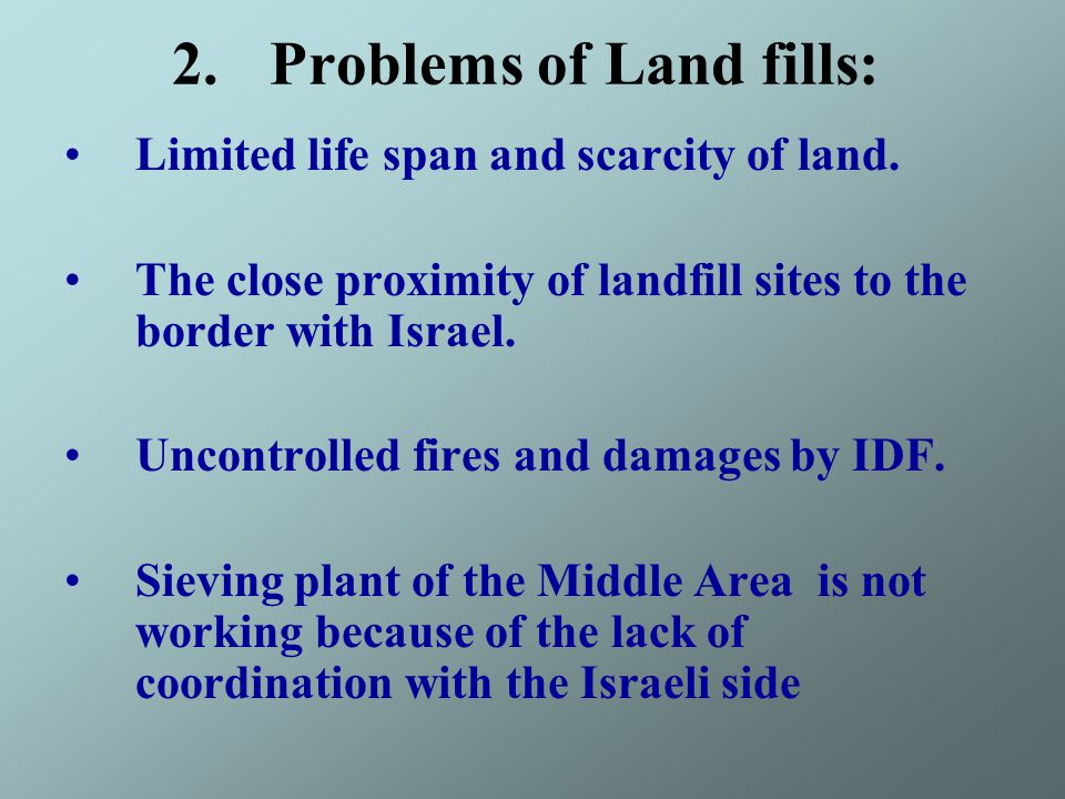 Problems of Land fills :