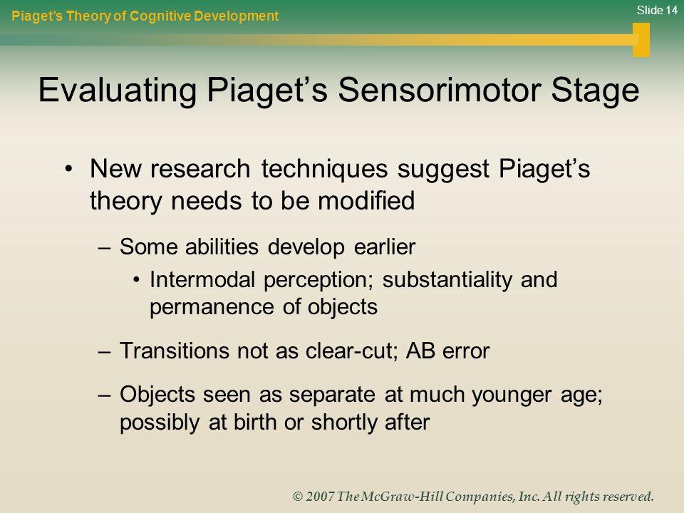 Evaluating Piaget's Sensorimotor Stage