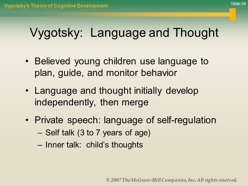 Vygotsky: Language and Thought
