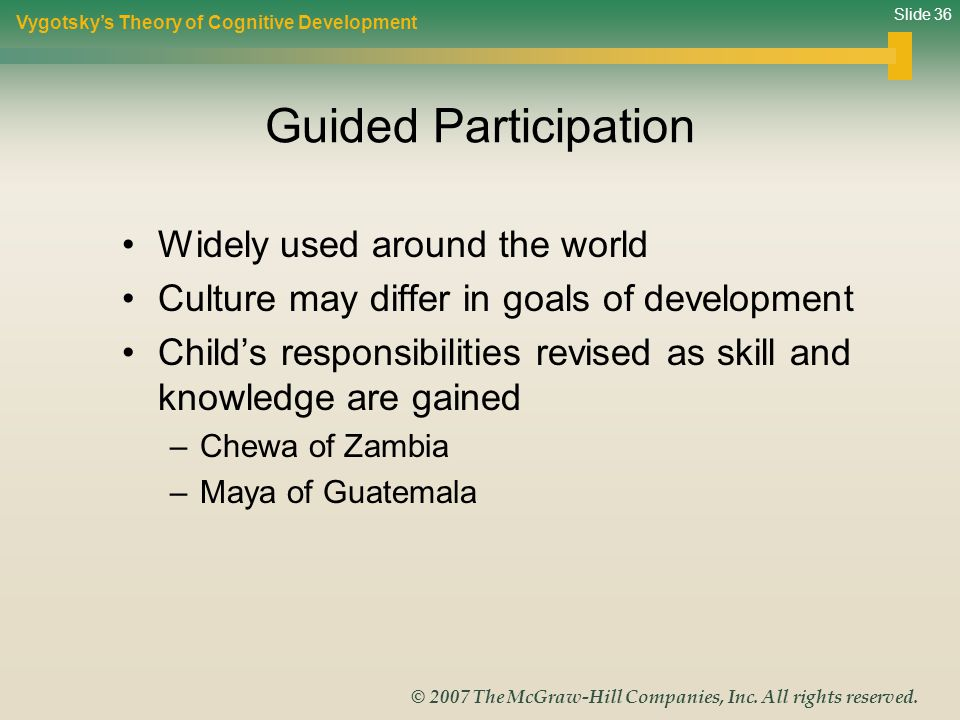 Guided Participation Widely used around the world