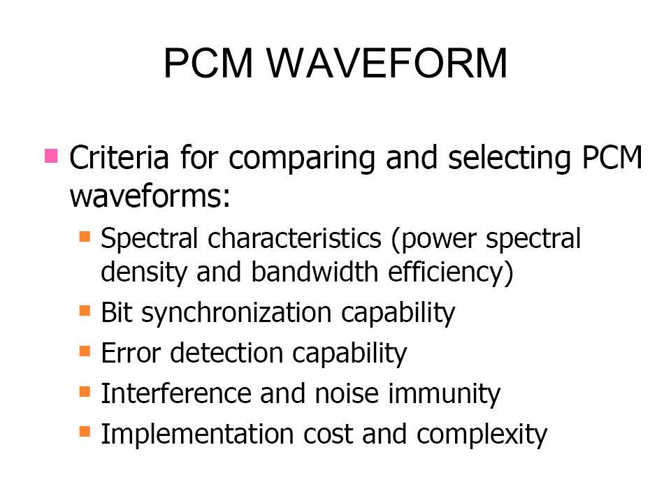 PCM WAVEFORM