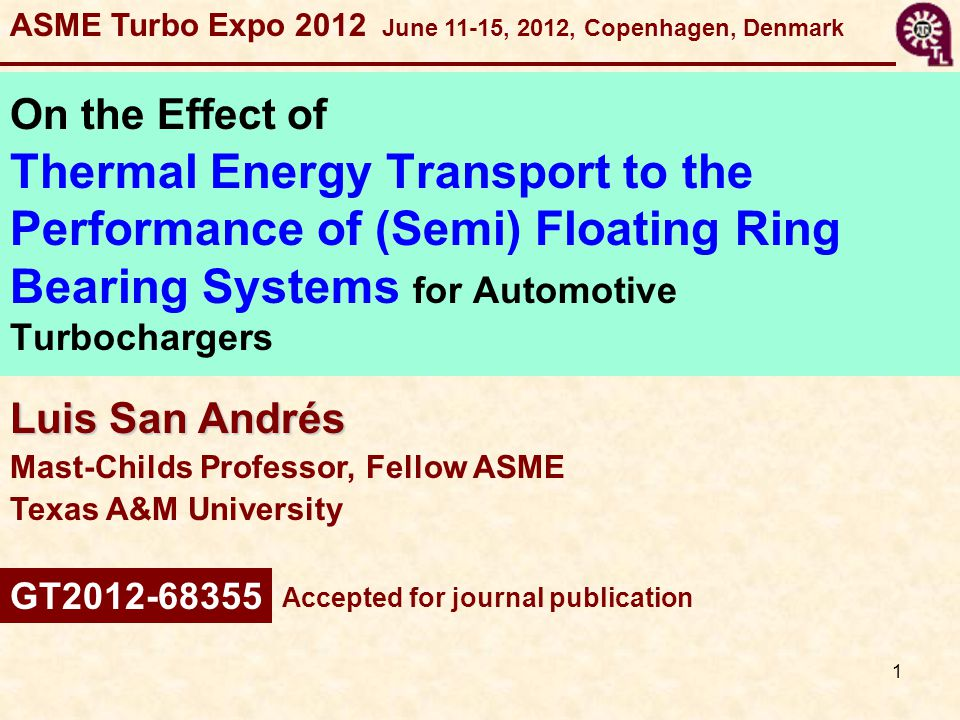 ASME Turbo Expo 2012 June 11-15, 2012, Copenhagen, Denmark