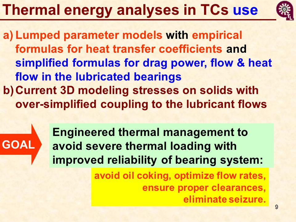 Thermal energy analyses in TCs use