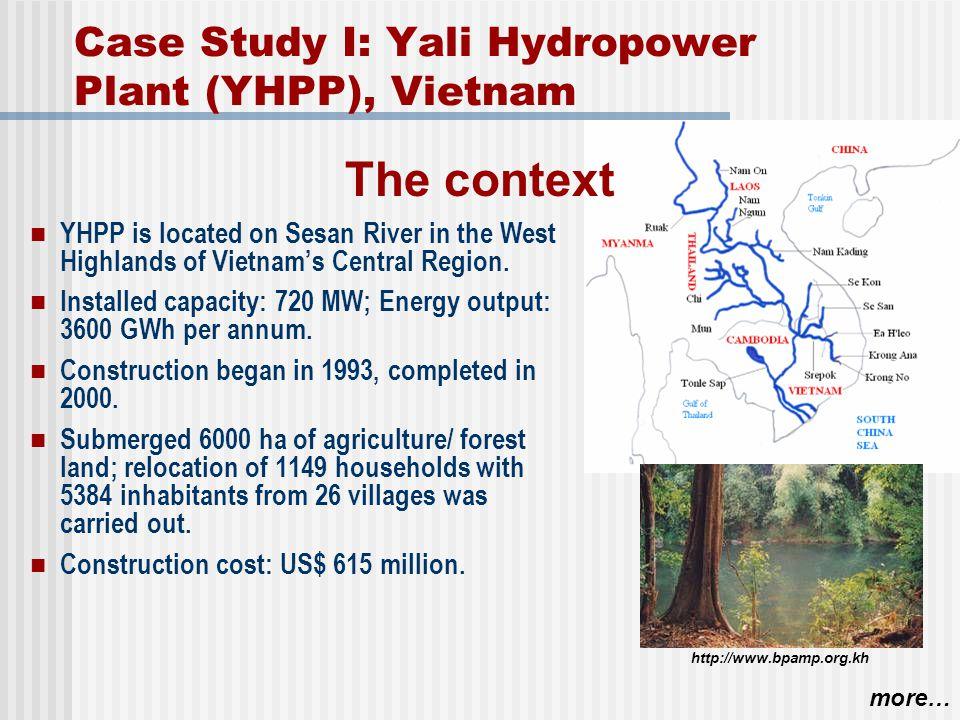 Case Study I: Yali Hydropower Plant (YHPP), Vietnam