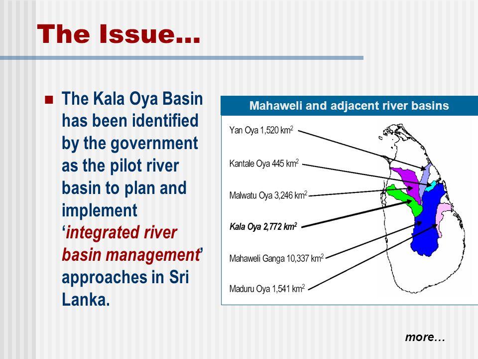 Mahaweli and adjacent river basins
