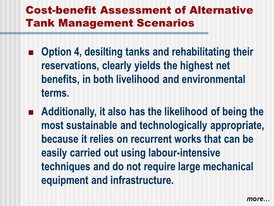 Cost-benefit Assessment of Alternative Tank Management Scenarios