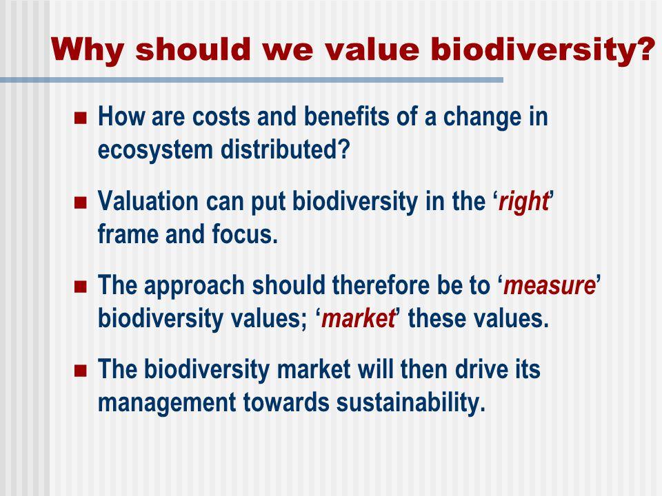 Why should we value biodiversity