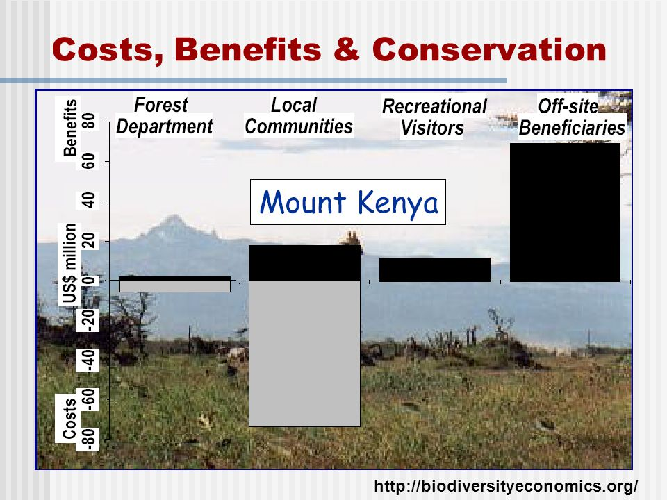 Costs, Benefits & Conservation