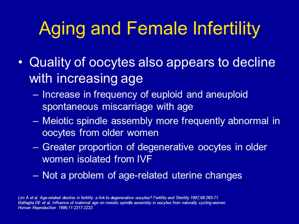 Aging and Female Infertility
