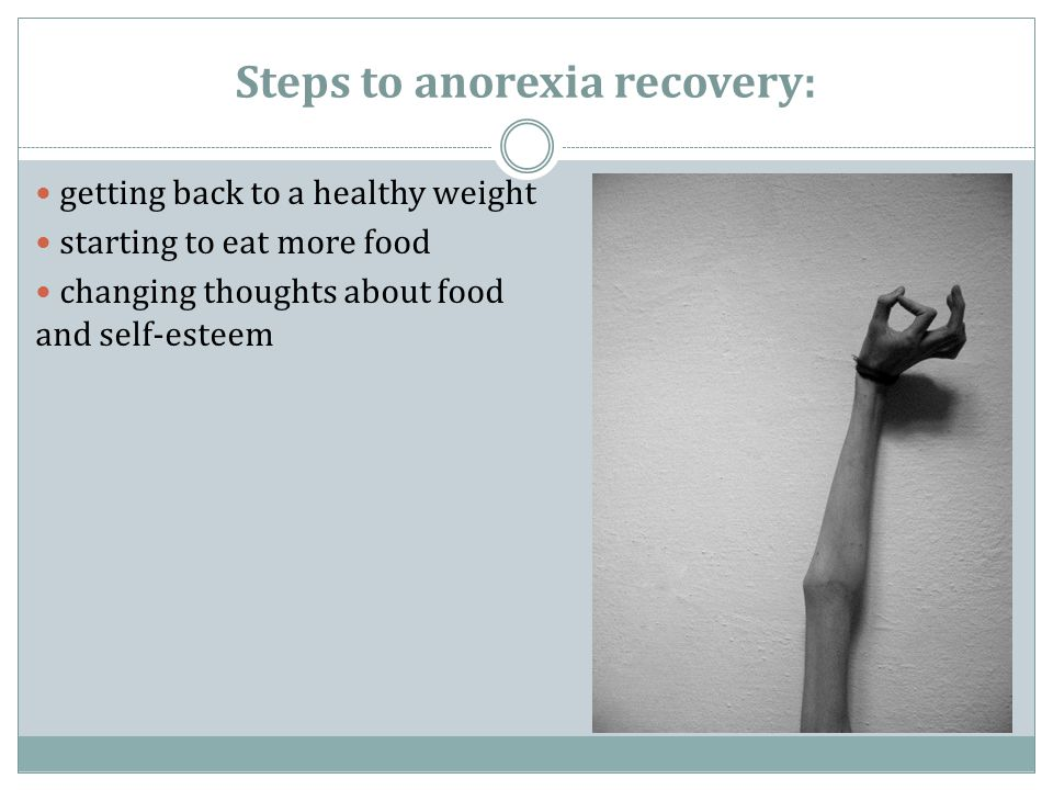 Steps to anorexia recovery: