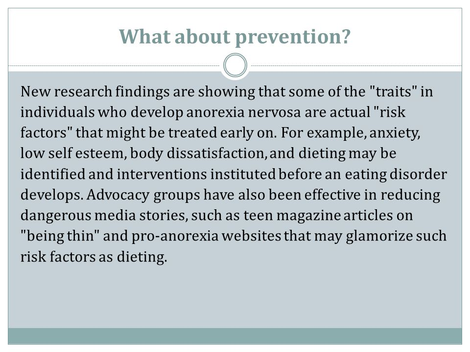 What about prevention