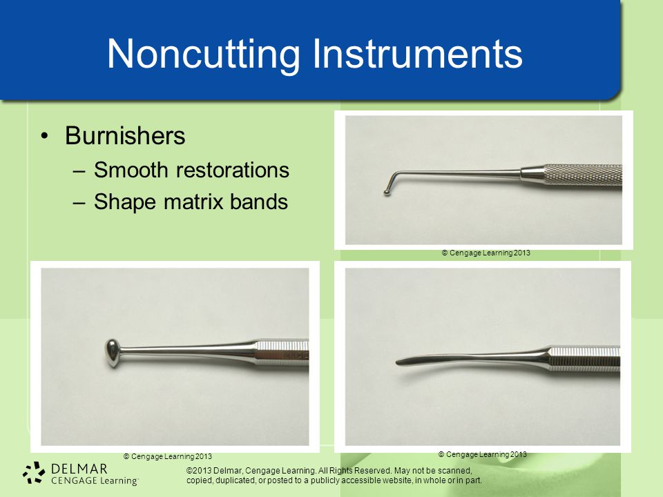 Noncutting Instruments