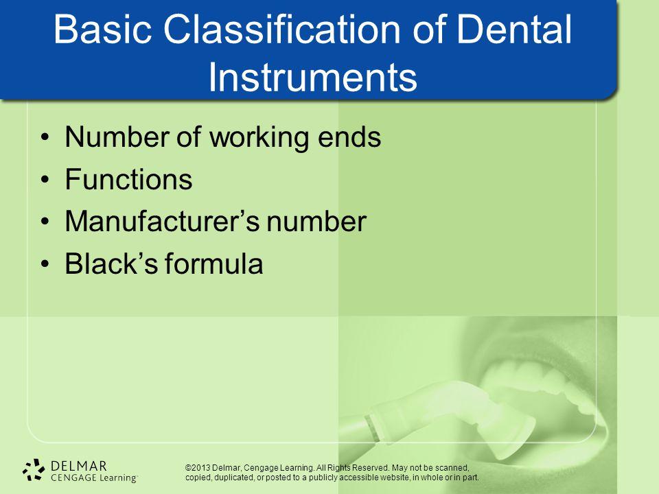 Basic Classification of Dental Instruments