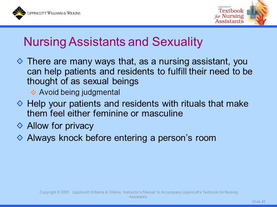 Nursing Assistants and Sexuality
