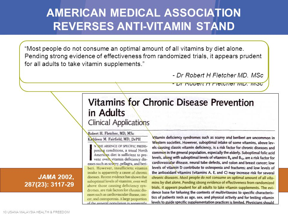AMERICAN MEDICAL ASSOCIATION REVERSES ANTI-VITAMIN STAND