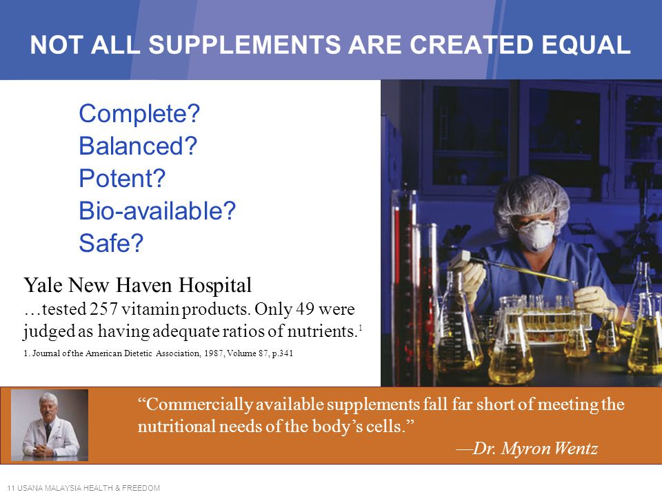 NOT ALL SUPPLEMENTS ARE CREATED EQUAL