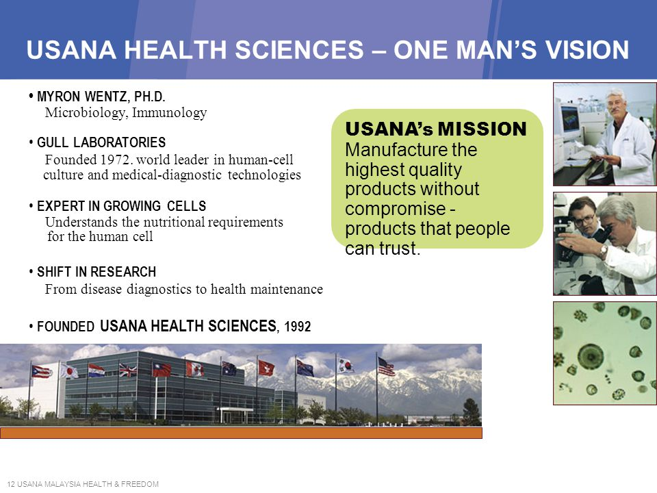 USANA HEALTH SCIENCES – ONE MAN'S VISION