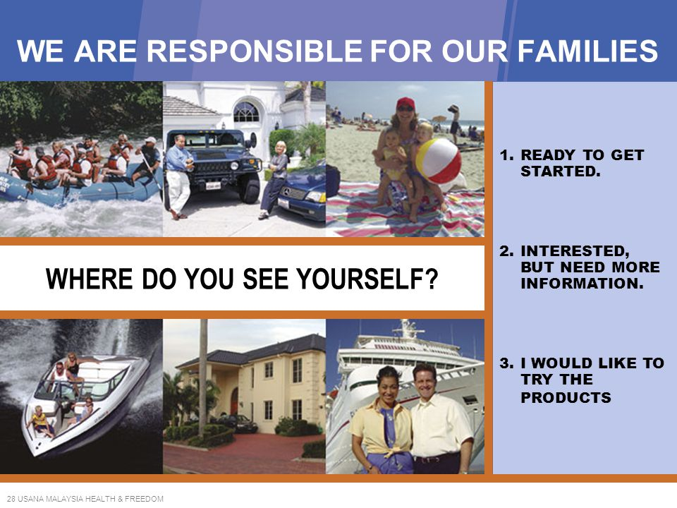 WE ARE RESPONSIBLE FOR OUR FAMILIES