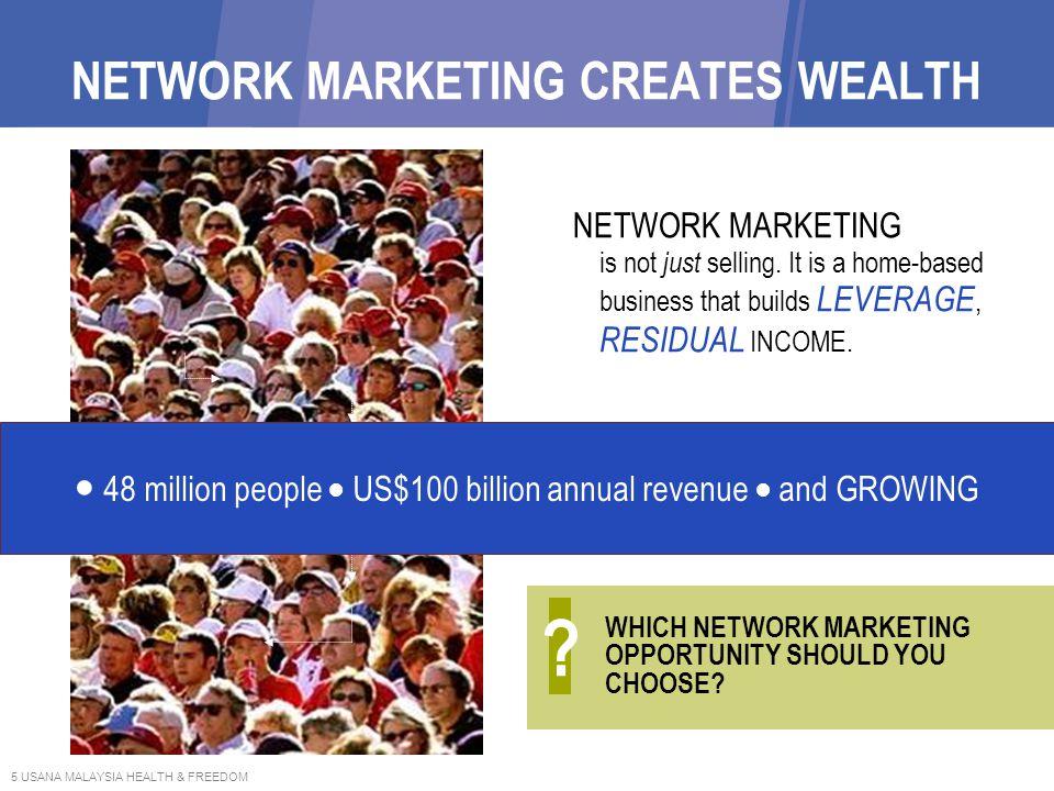 NETWORK MARKETING CREATES WEALTH
