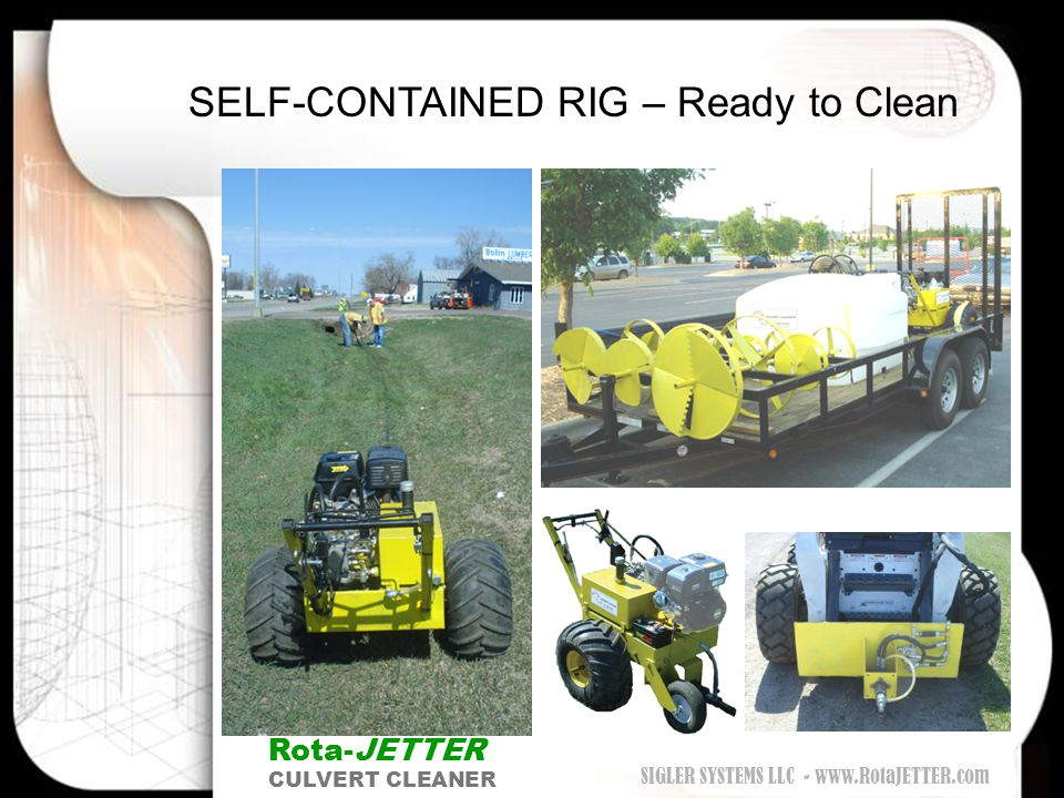 Rota-JETTER - DEFINED SELF-CONTAINED RIG – Ready to Clean