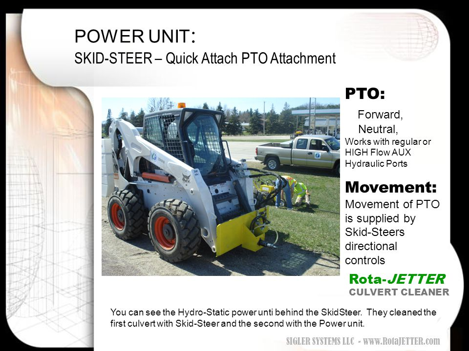 POWER UNIT: SKID-STEER – Quick Attach PTO Attachment