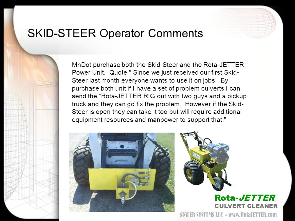 SKID-STEER Operator Comments