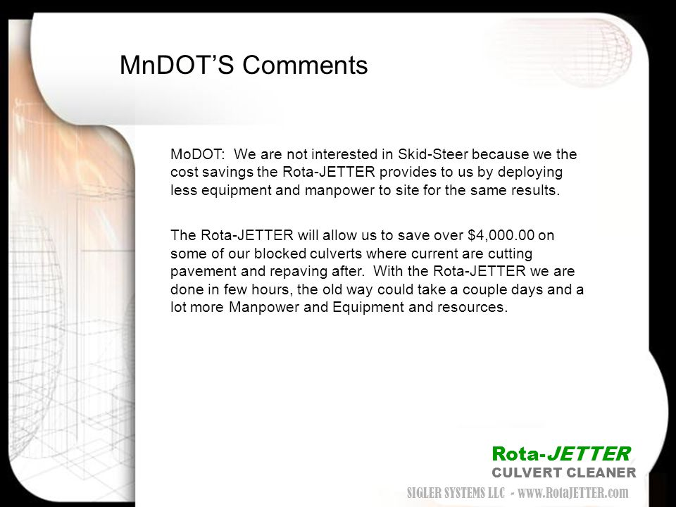 MnDOT'S Comments Rota-JETTER