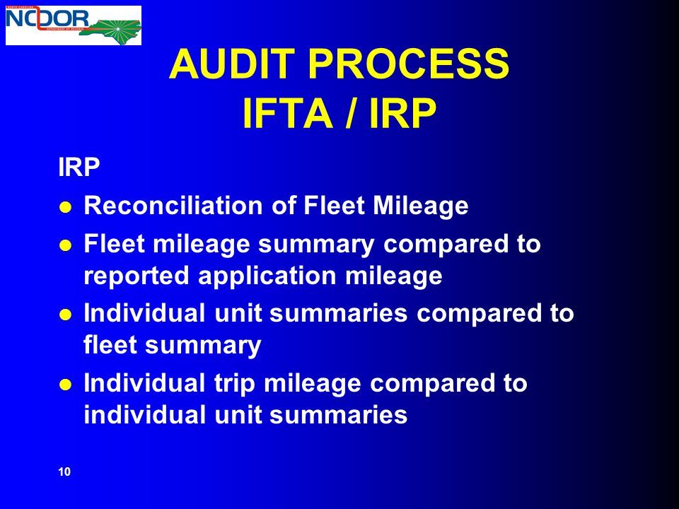 AUDIT PROCESS IFTA / IRP
