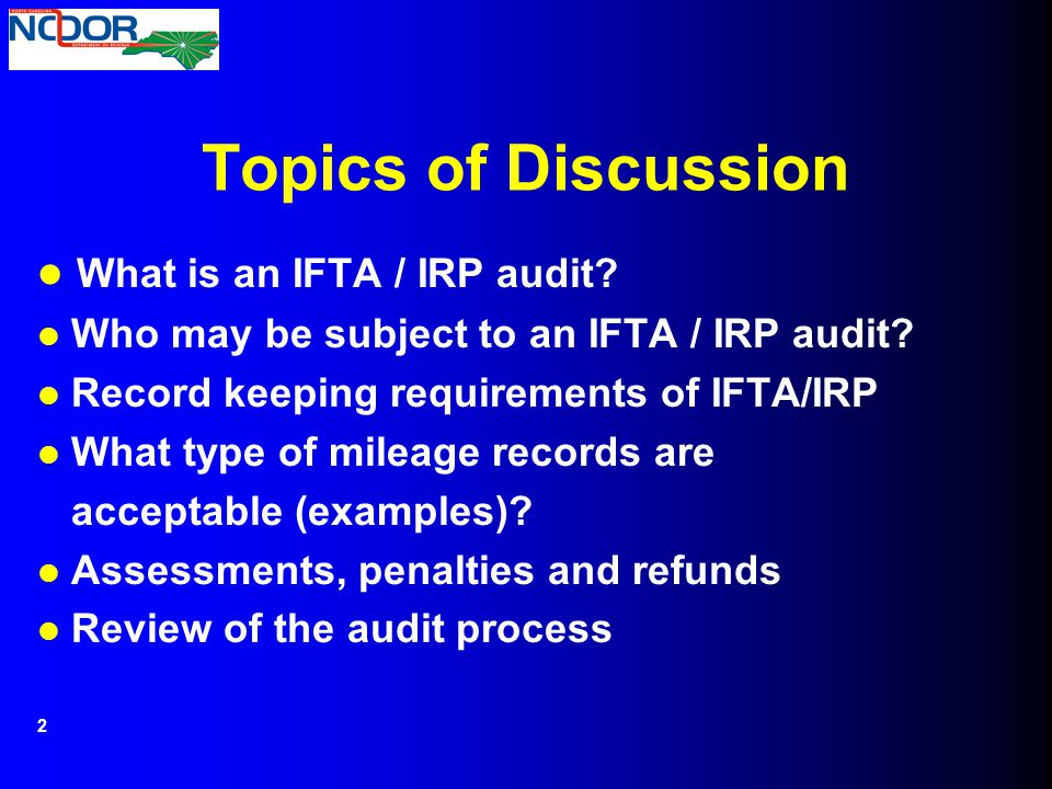 What is an IFTA / IRP audit