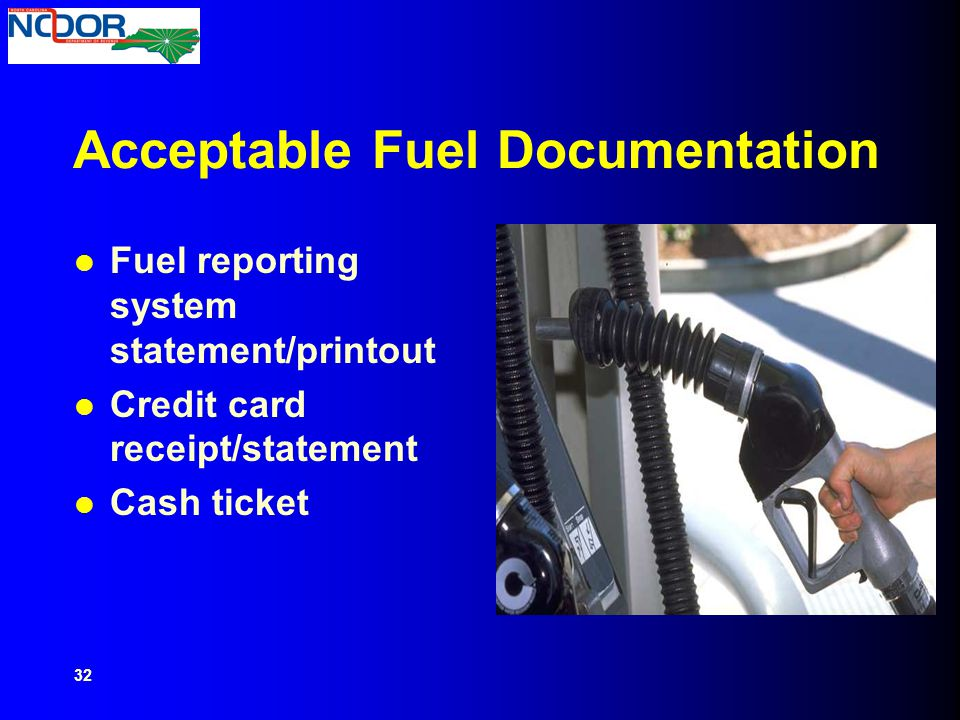 Acceptable Fuel Documentation