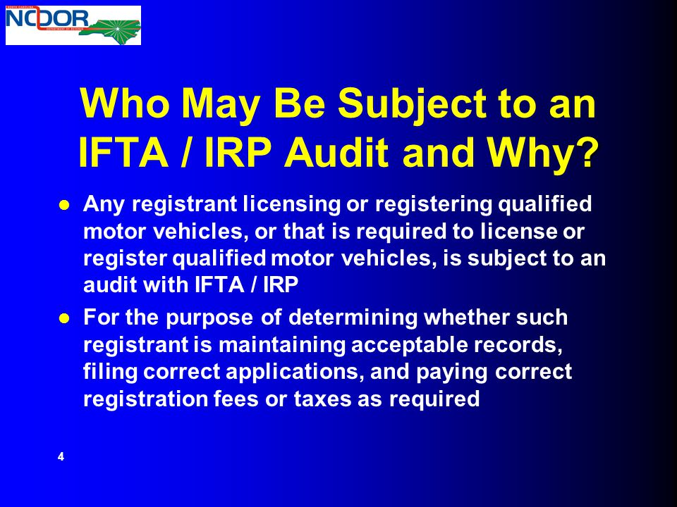 Who May Be Subject to an IFTA / IRP Audit and Why