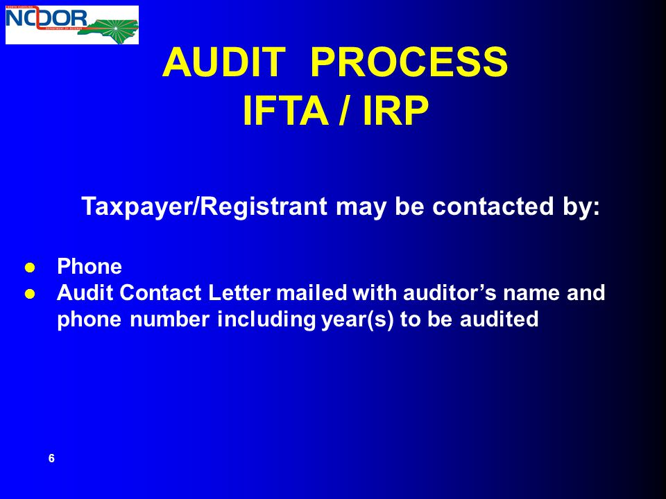 Taxpayer/Registrant may be contacted by: