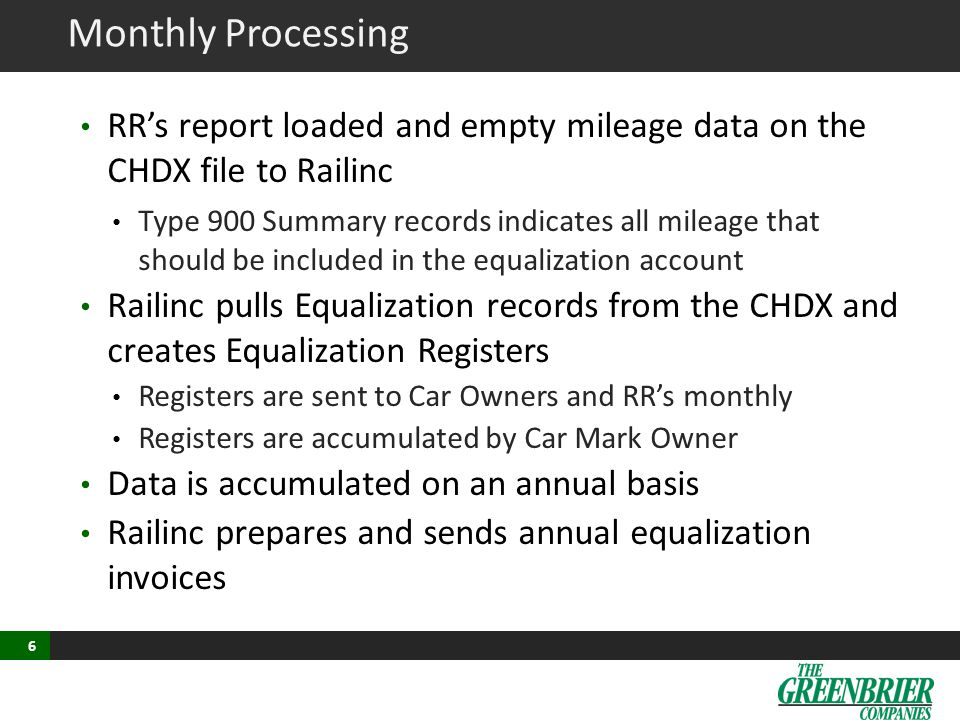 Monthly Processing - Calculation