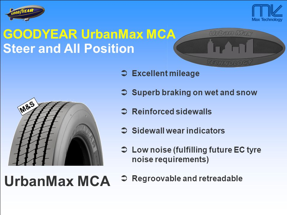 UrbanMax MCA GOODYEAR UrbanMax MCA Steer and All Position