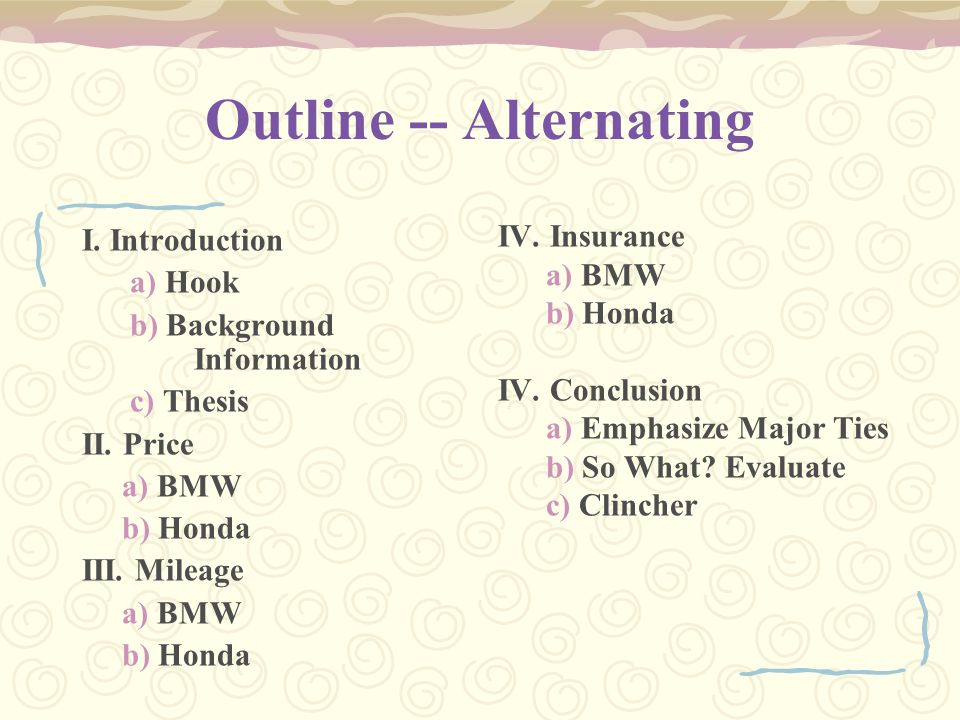 Outline -- Alternating