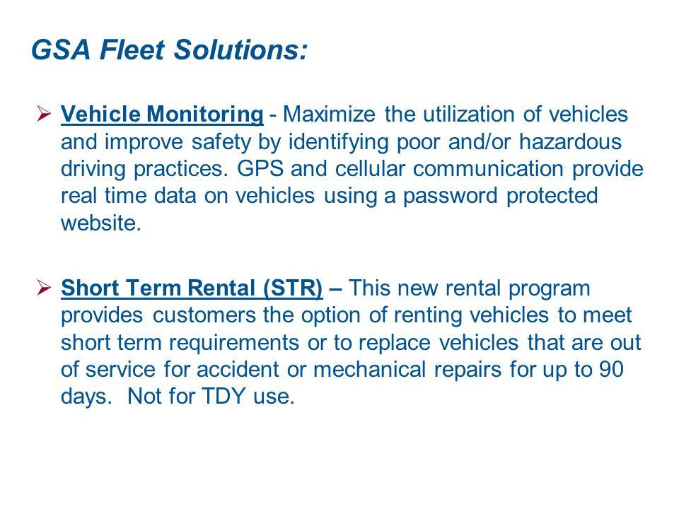 GSA Fleet Solutions: