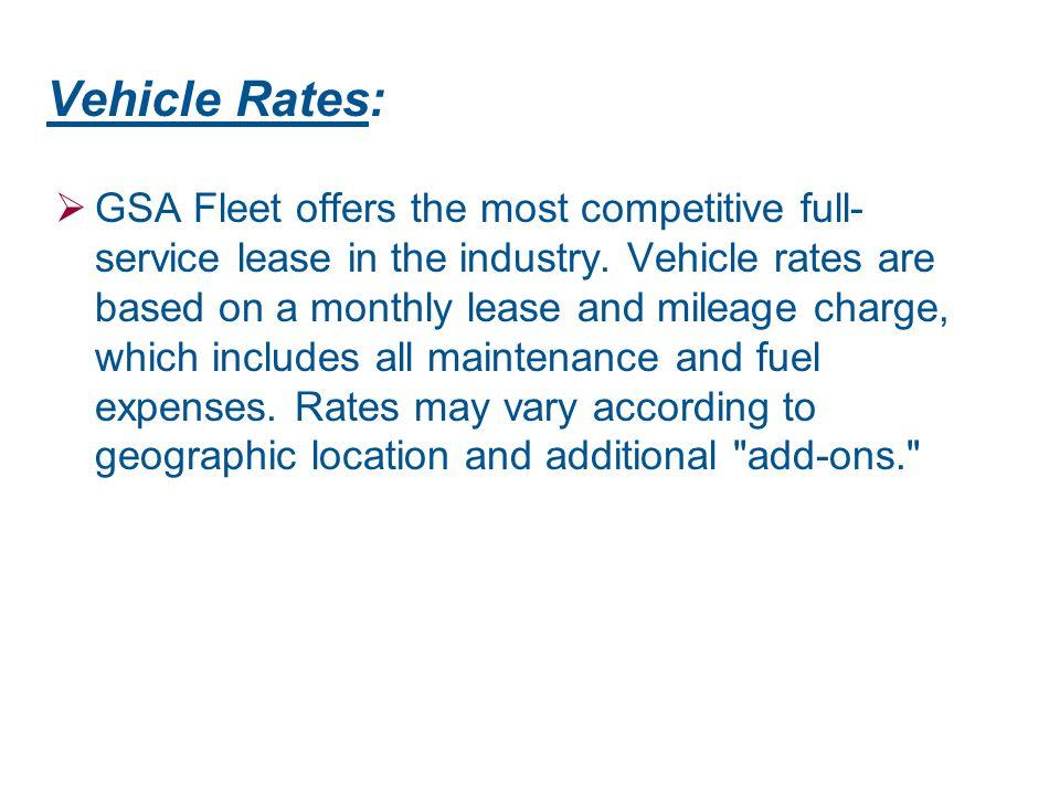 Vehicle Rates: