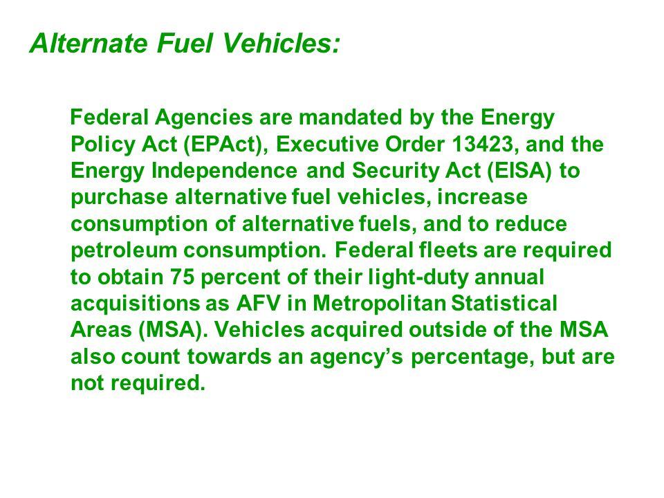 Alternate Fuel Vehicles: