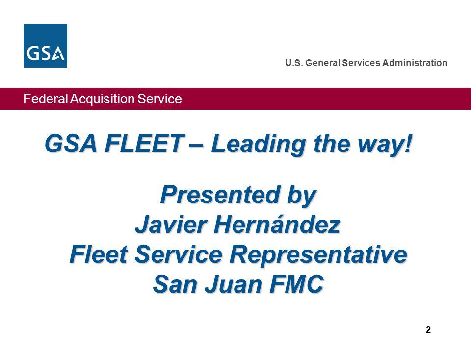 GSA FLEET – Leading the way!