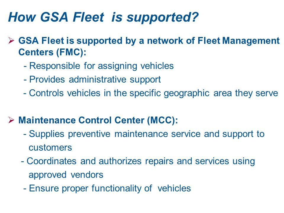 How GSA Fleet is supported