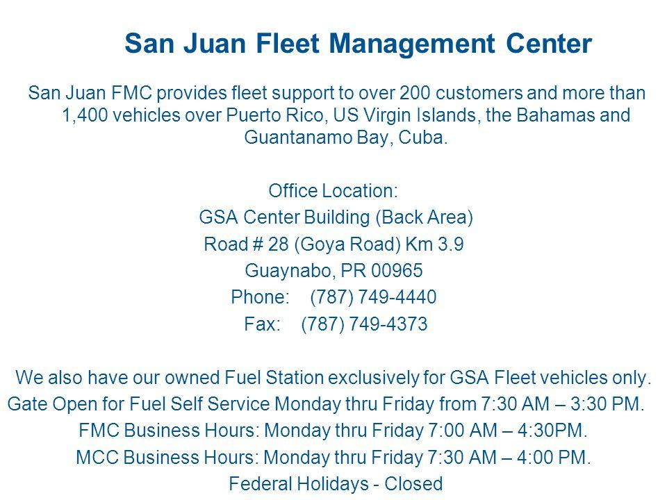 San Juan Fleet Management Center