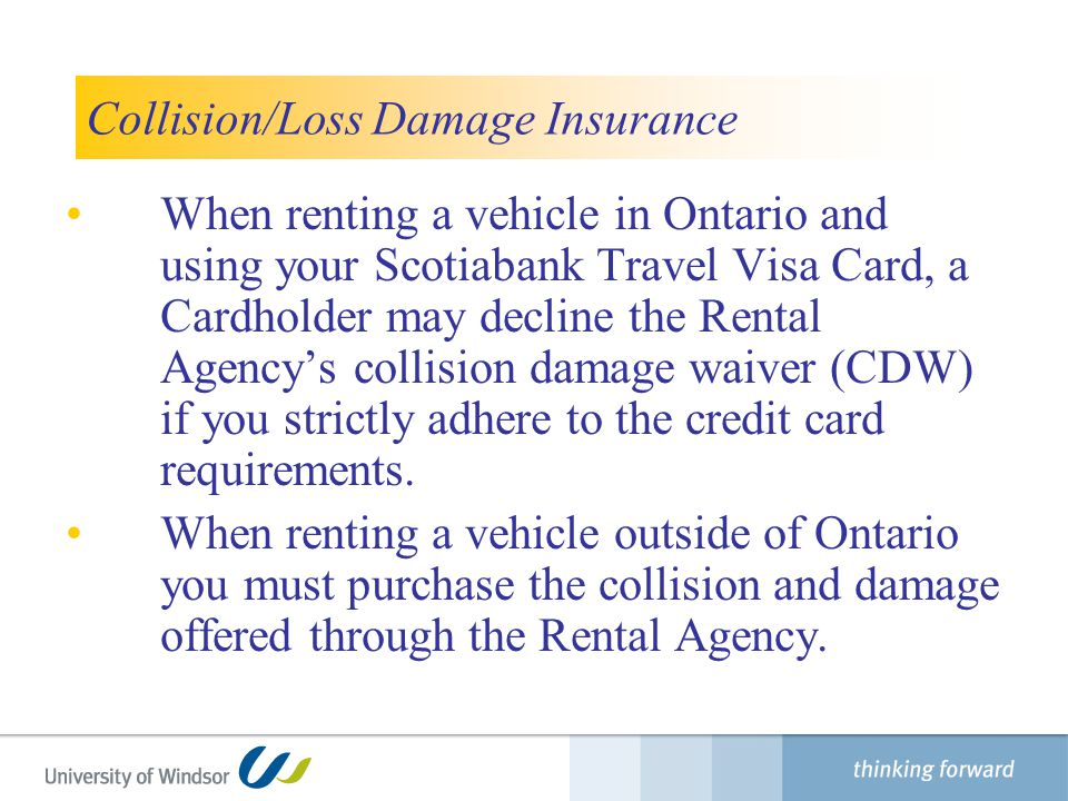 Collision/Loss Damage Insurance