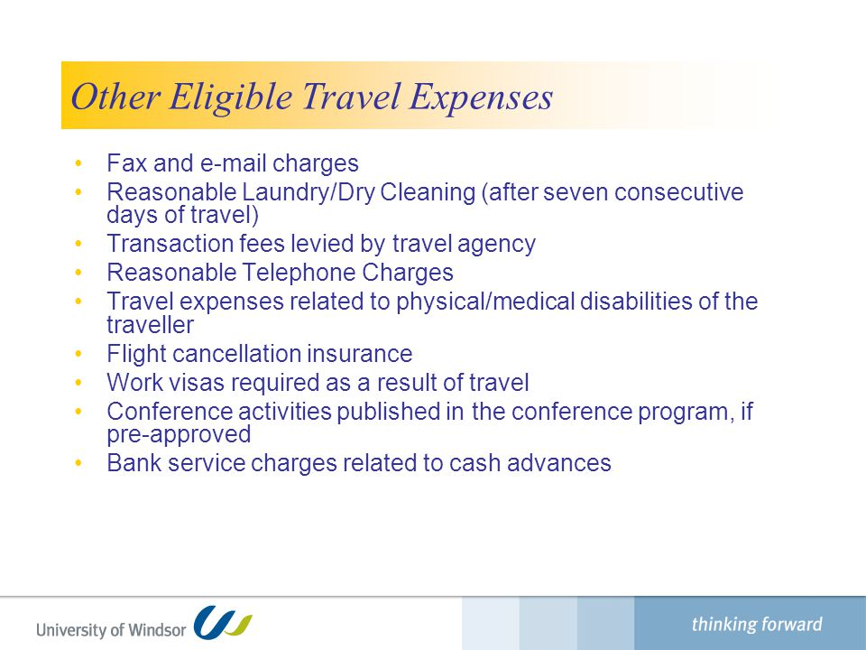 Other Eligible Travel Expenses