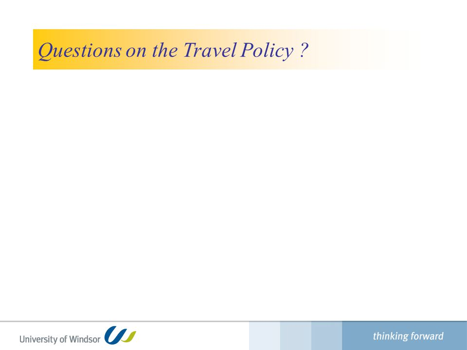 Questions on the Travel Policy